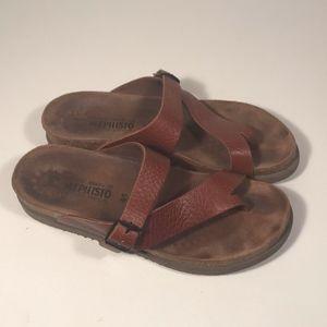 Mephisto Helen Toe Loop Sandals Women Size 41 EU